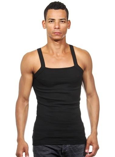 Darkzone Slim Fit Askılı Atlet Siyah